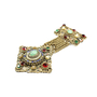 Authentic Vintage (unbranded) Gilt Metal Dangle Brooch (PSS-226-00005) - Thumbnail 1