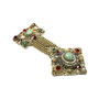 Authentic Vintage (unbranded) Gilt Metal Dangle Brooch (PSS-226-00005) - Thumbnail 2