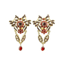 Authentic Vintage Askew Crystal Dangle Earrings (PSS-226-00006) - Thumbnail 0
