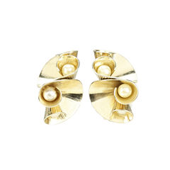Abstract Swirl Clip On Earrings