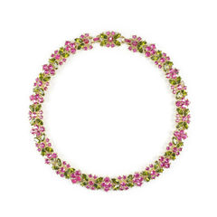 Floral Crystal Choker