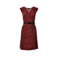 Zig Zag Belted Dress