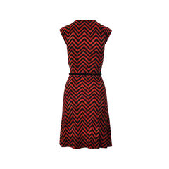 Ralph ralph lauren tribal zig zag sleeveless long dress 2