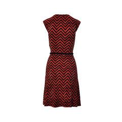 Ralph ralph lauren tribal zig zag sleeveless long dress 2
