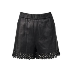 Andi Laser Cut Leather Shorts