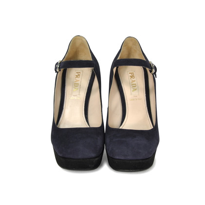 Authentic Second Hand Prada Two Toned Platform Wedge (PSS-265-00006)
