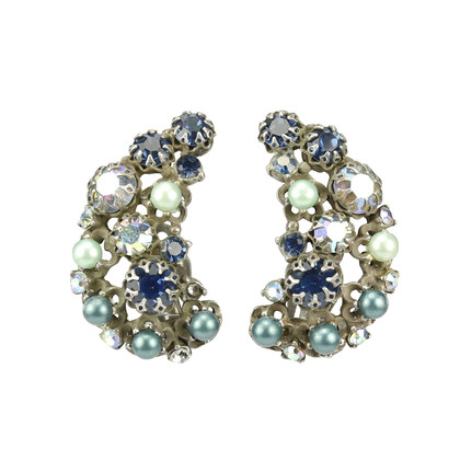 Authentic Vintage Elsa Schiaparelli Crescent Earrings (PSS-226-00009)
