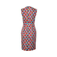 Kate spade sleeveless colorful triangles print dress 2