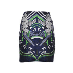 Emma cook pop printed stretch jersey mini skirt 2