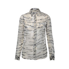 Animal Print Silk Shirt