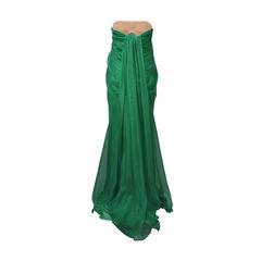 Alexander mcqueen green silk chiffon gown 2