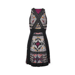 Etro cross embellished strap dress 2