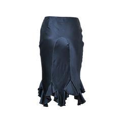 Chloe ruffles silk pencil skirt 2