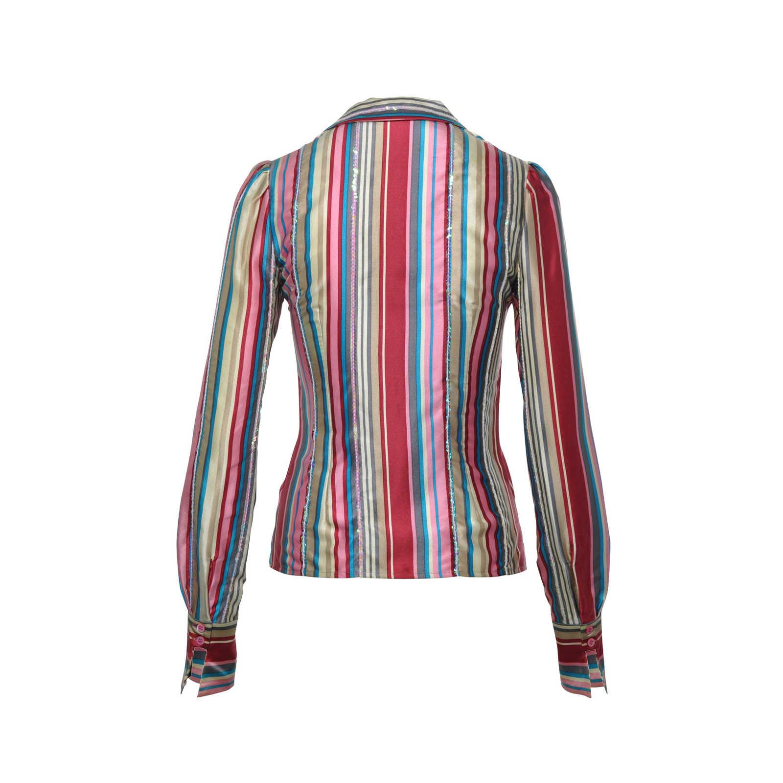 ceb77c3e6c Authentic Second Hand Chloé Sequin Stripe Shirt (PSS-265-00142 ...