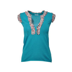 Turquoise Knit top
