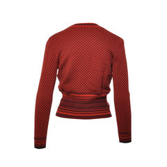 Celine red dots long sleeves sweater 2
