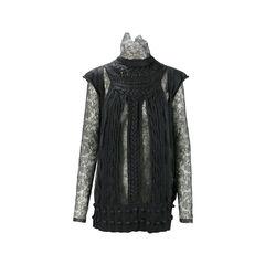 Lace Trim Sweater Tunic