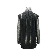 Kenzo defile lace trim sweater tunic 2