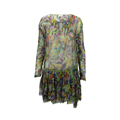 Authentic Second Hand Dries Van Noten Brushstroke Print Dress (PSS-200-00306)