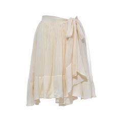 Nude Pleated Skirt