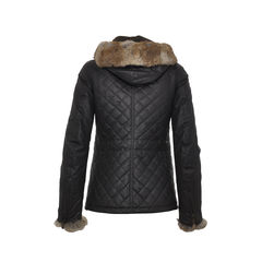 Belstaff quilted jacket with fur trimmed hoodie 2