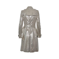 Burberry metallic double breasted trench coat 2