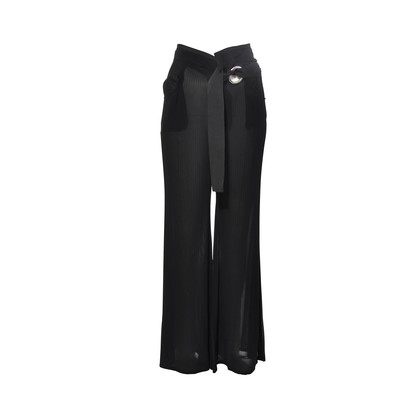 Authentic Second Hand Yohji Yamamoto Pinstripe Trousers (PSS-265-00144)