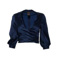 Navy Blue Cropped Jacket