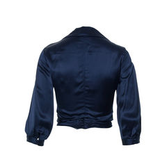 Louis vuitton navy blue cropped jacket 2