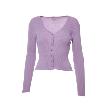 Authentic Second Hand Christian Dior Lilac Knit Cardigan (PSS-265-00032)