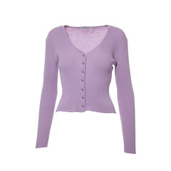 Lilac Knit Cardigan
