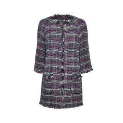 Tweed Fringe Hem Coat