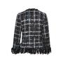Chanel Frayed Woven Jacket - Thumbnail 1