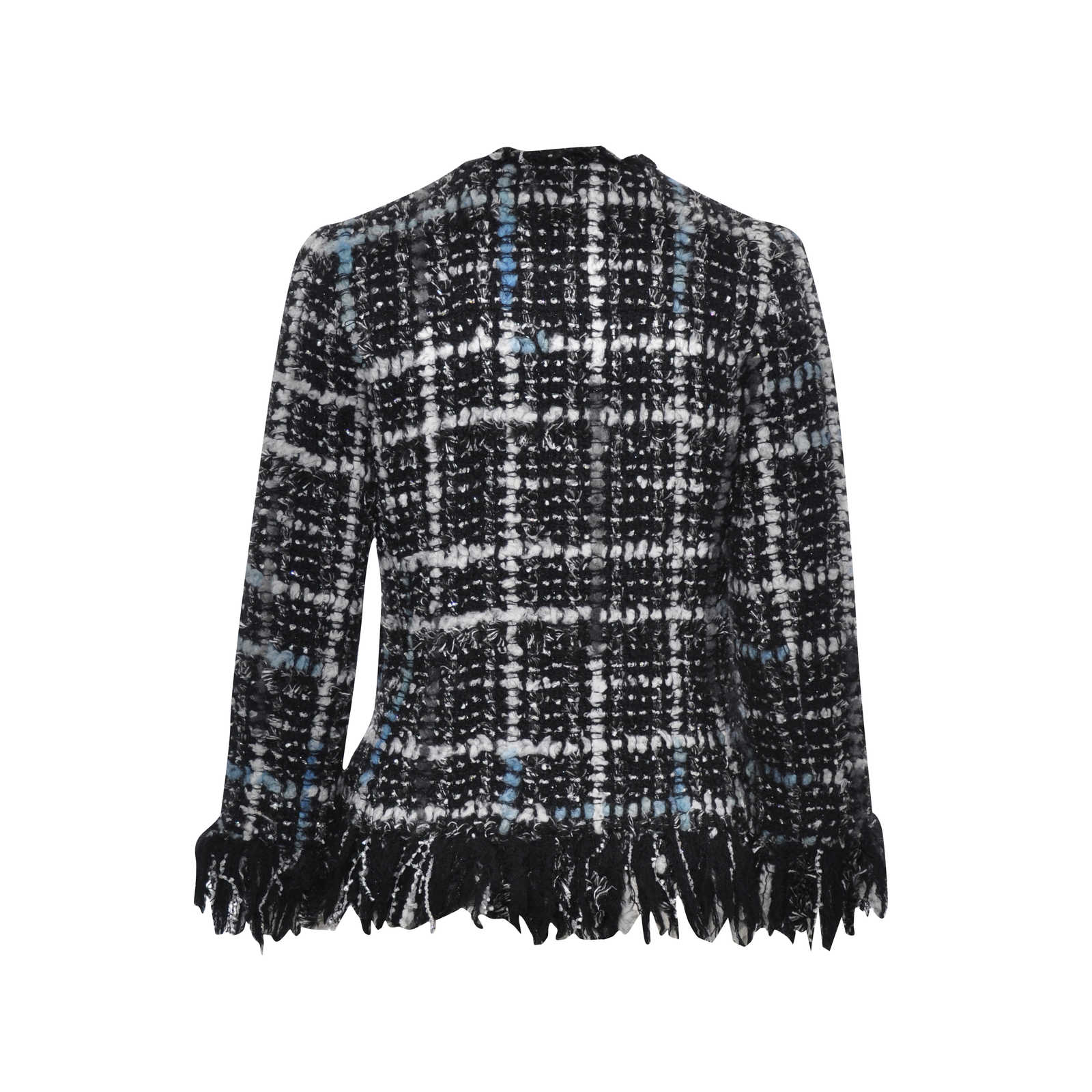 fc7a6430c03 ... Authentic Second Hand Chanel Frayed Woven Jacket (PSS-051-00128) -  Thumbnail ...