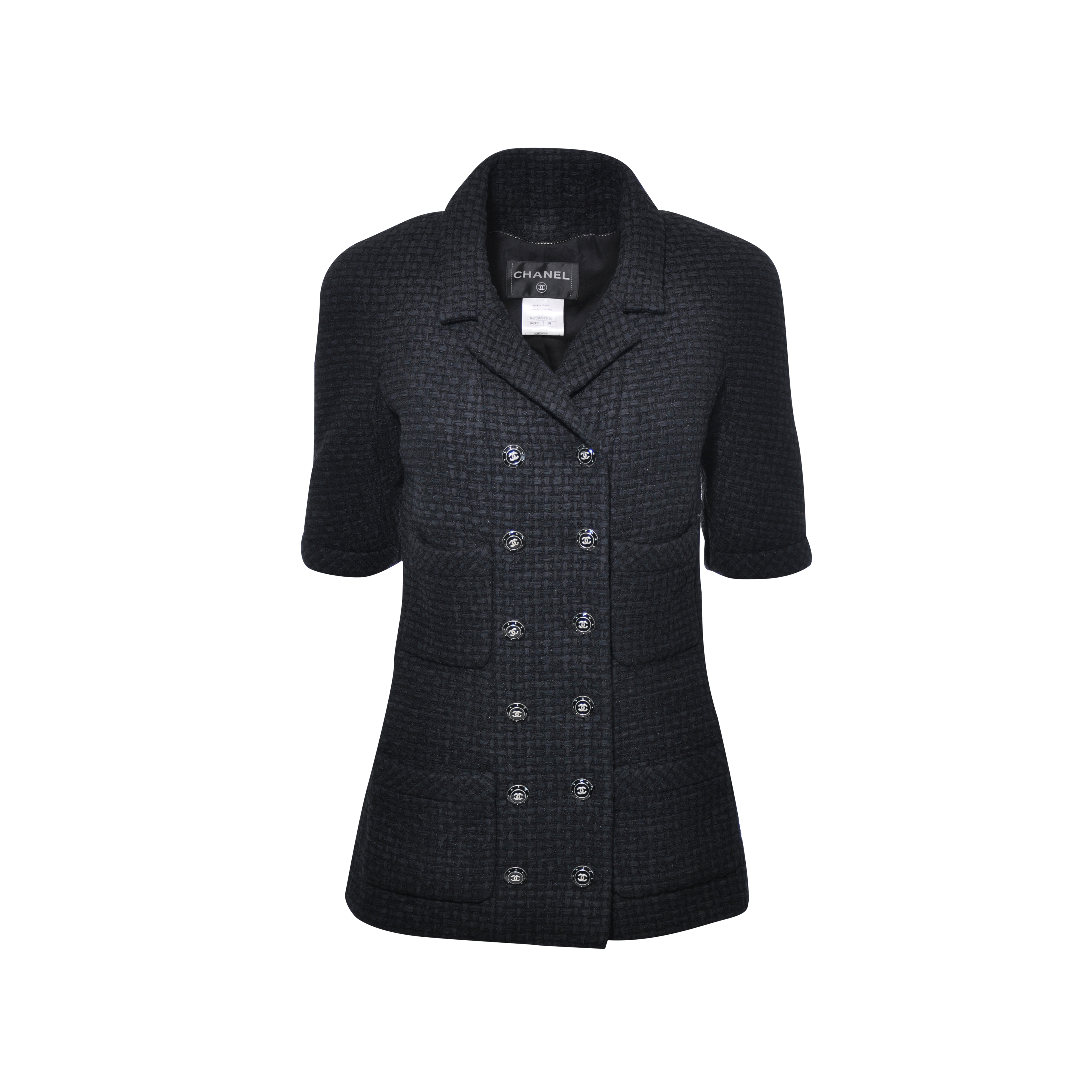 bc22068322d Authentic Second Hand Chanel Double Breasted Short Sleeve Jacket  (PSS-051-00144)