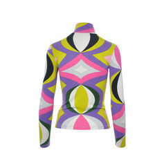 Emilio pucci high neck multicolored top 2