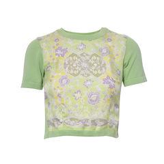 Silk Printed Knit Top