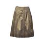 Authentic Second Hand Dries Van Noten Pleated Gold Metallic Skirt (PSS-265-00081) - Thumbnail 0