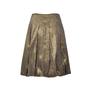 Authentic Second Hand Dries Van Noten Pleated Gold Metallic Skirt (PSS-265-00081) - Thumbnail 1