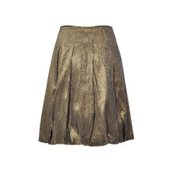 Dries van noten pleated gold metallic skirt 2