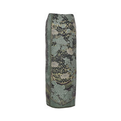 Etro green florals abstract print skirt 2