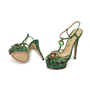 Charlotte Olympia Emerald Deco Leading Lady Sandals - Thumbnail 1