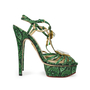 Charlotte Olympia Emerald Deco Leading Lady Sandals - Thumbnail 3