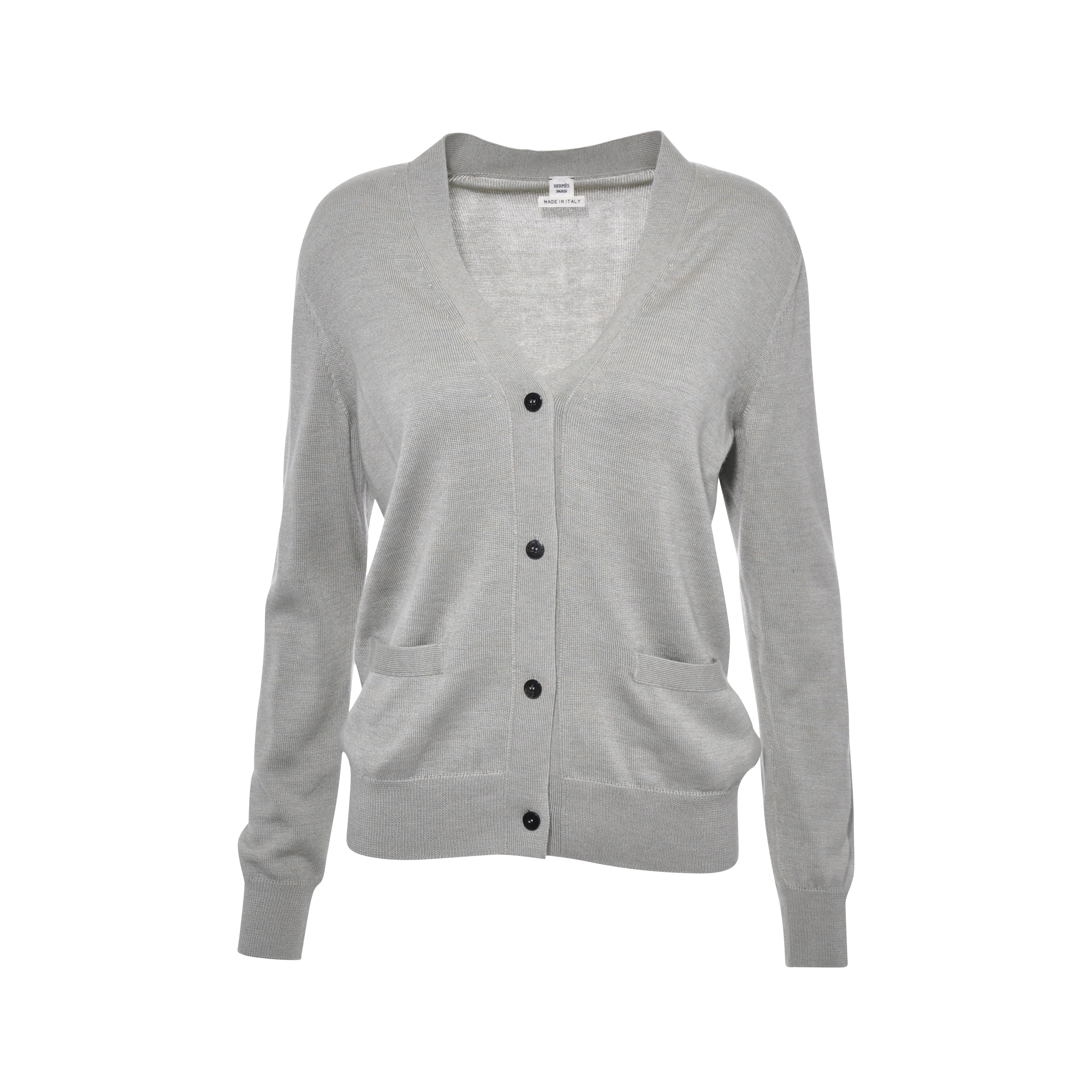 8ddac7ef55cdb8 Authentic Second Hand Hermès Button Down Cardigan (PSS-051-00111 ...