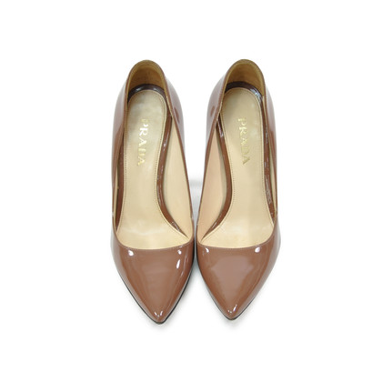 Authentic Second Hand Prada Pointy Patent Pumps (PSS-281-00006)