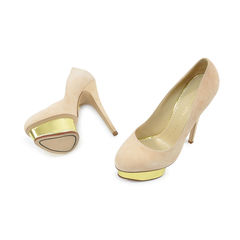 Charlotte olympia dolly suede pumps 2?1490702656