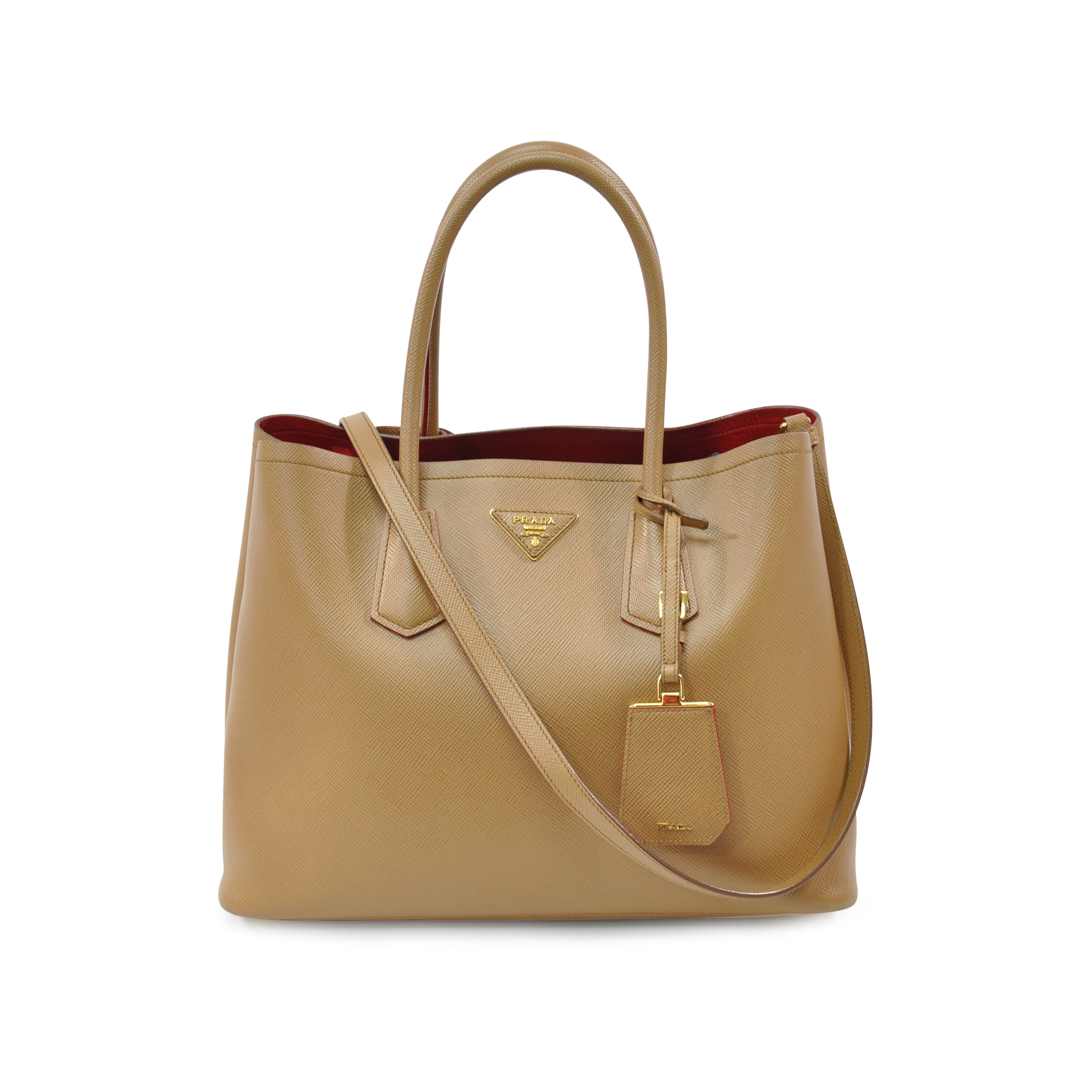 9cafd4a5a1db41 Authentic Second Hand Prada Cuir Double Tote Bag (PSS-328-00004) | THE  FIFTH COLLECTION