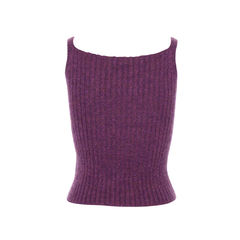 Balmain purple metallic with rib knit details tank top 2?1490769672