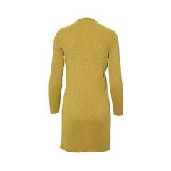 Versace gianni versace yellow metallic rib knit cardigan 2?1490774330