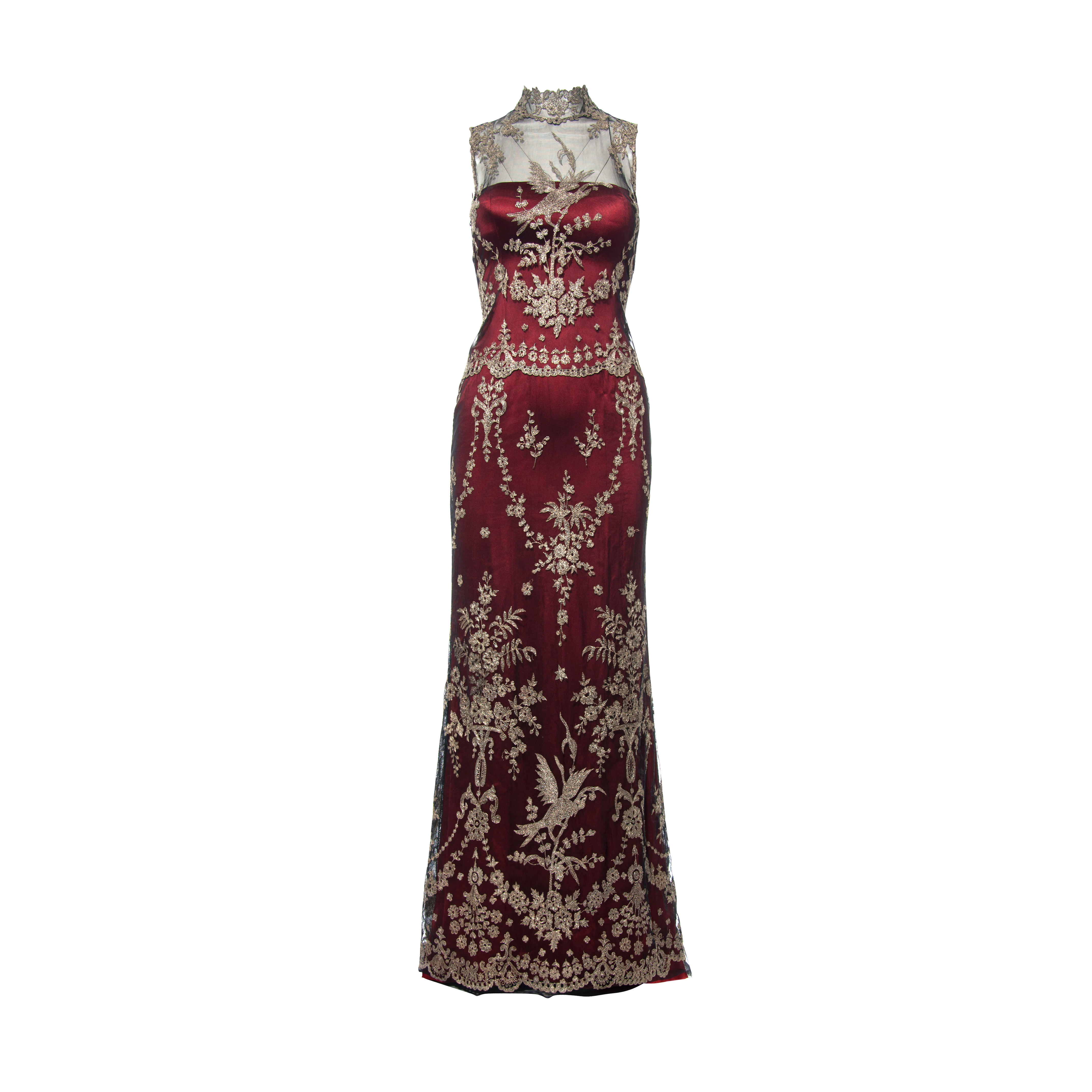 f1d97a4be5a71 Authentic Second Hand Vera Wang Embroidered Lace Dress (PSS-265-00117) |  THE FIFTH COLLECTION